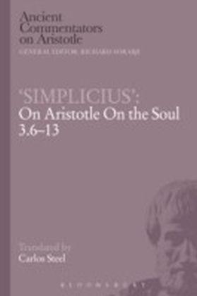 Simplicius : On Aristotle On the Soul 3.6-13