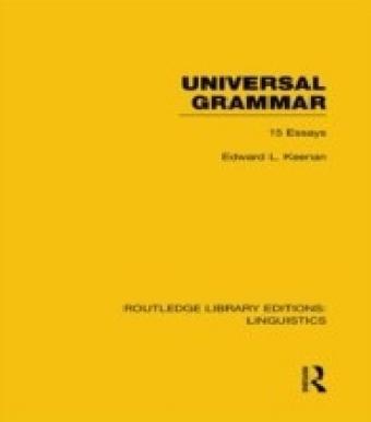 Universal Grammar (RLE Linguistics A: General Linguistics)