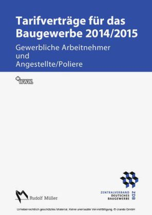 Tarifverträge für das Baugewerbe 2014/2015