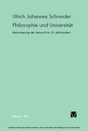 Philosophie und Universität