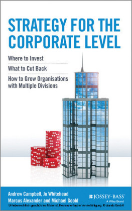 Strategy for the Corporate Level