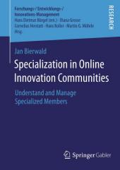 Specialization in Online Innovation Communities