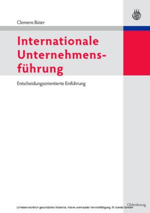 Internationale Unternehmensführung