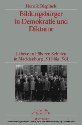 Bildungsbürger in Demokratie und Diktatur