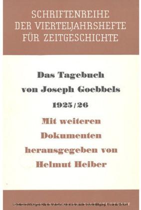 Das Tagebuch von Joseph Goebbels 1925-1926