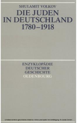 Die Juden in Deutschland 1780-1918
