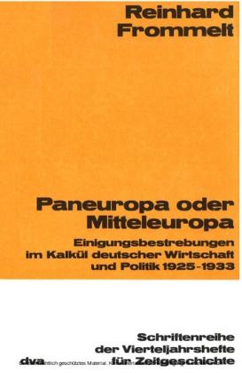 Paneuropa oder Mitteleuropa