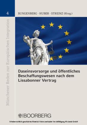 Daseinsvorsorge und öffentliches Beschaffungswesen nach dem Lissabonner Vertrag
