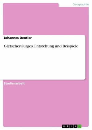 Gletscher-Surges. Entstehung und Beispiele