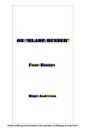 On 'Blade Runner'