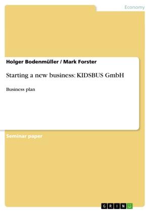 Starting a new business: KIDSBUS GmbH
