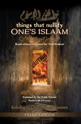 Things that Nullify One's Islaam