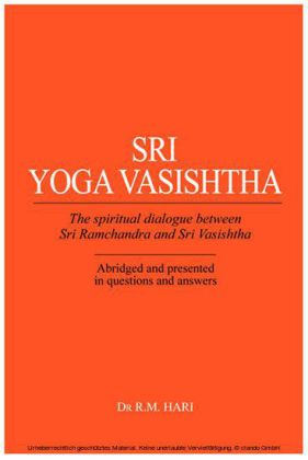 Sri Yoga Vasishtha