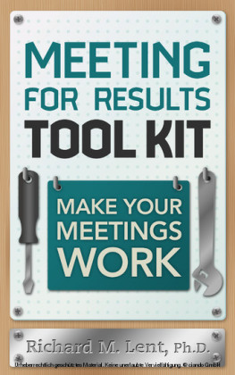 Meeting for Results Tool Kit