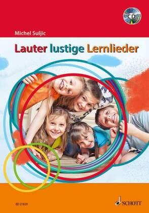 Lauter lustige Lernlieder, m. 2 Audio-CDs