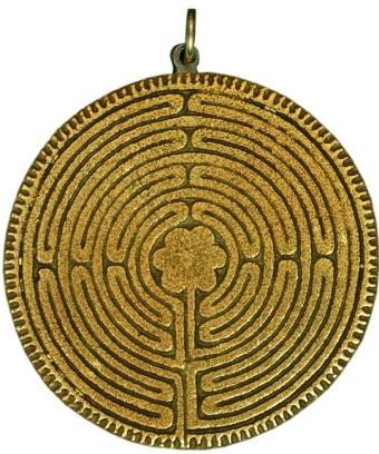 Halsanhänger Labyrinth bronze