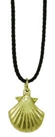 Halsanhänger Jakobsmuschel silber-bronze