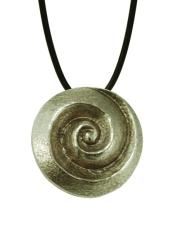 Halsanhänger Spirale silber-bronze