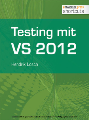 Testing mit Visual Studio 2012
