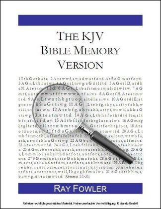 The KJV Bible Memory Version