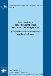Sexuelle Orientierung im Völker- und Europarecht
