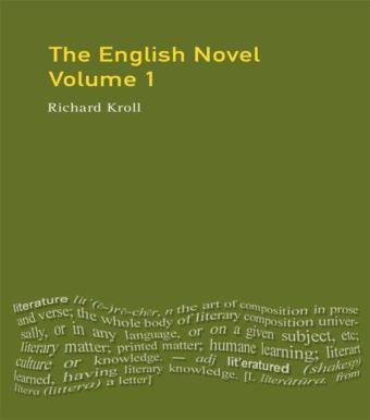 The English Novel, Vol I