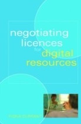 Negotiating Licences for Digital Resources