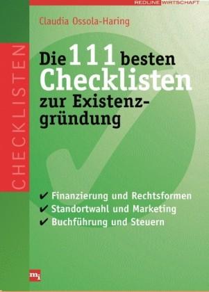 Die 111 besten Checklisten zur Existenzgründung