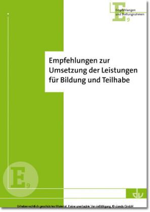 Empfehlungen des DV zur Umsetzung der Leistungen für Bildung und Teilhabe