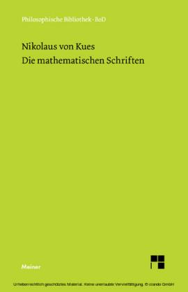 Schriften in deutscher Übersetzung / Die mathematischen Schriften