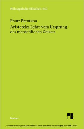 Aristoteles Lehre vom Ursprung des menschlichen Geistes