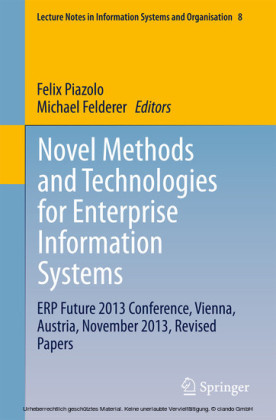 Novel Methods and Technologies for Enterprise Information Systems