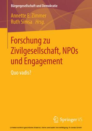 Forschung zu Zivilgesellschaft, NPOs und Engagement