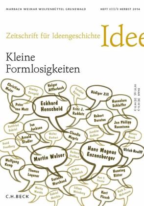 Zeitschrift für Ideengeschichte Heft VIII/3 Herbst 2014