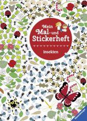 Mein Mal- und Stickerheft: Insekten Cover