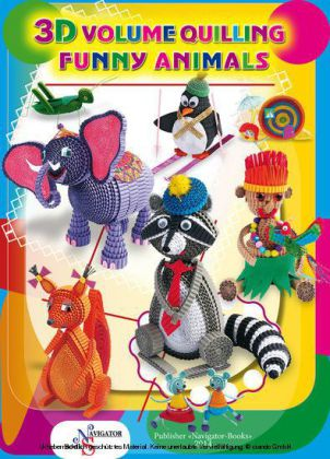 Funny Animals. 3D Volume Quilling