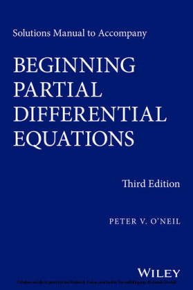 Solutions Manual to Accompany Beginning Partial Differential Equations