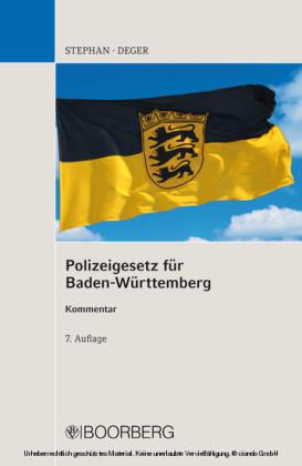 Polizeigesetz für Baden-Württemberg