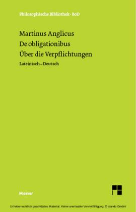 Über die Verpflichtungen. De obligaionibus.