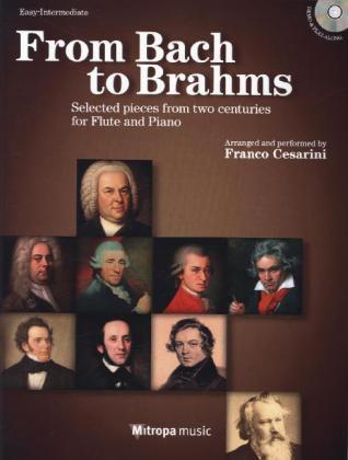 From Bach to Brahms, für Querflöte und Klavier, m. Audio-CD