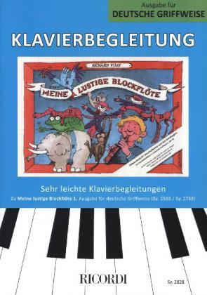 Klavierbegleitung, Ausgabe für deutsche Griffweise