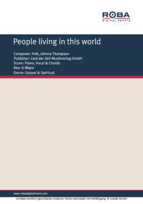 People living in this world