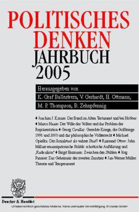 Politisches Denken. Jahrbuch 2005.