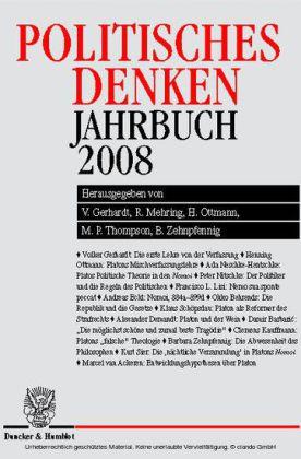 Politisches Denken. Jahrbuch 2008.