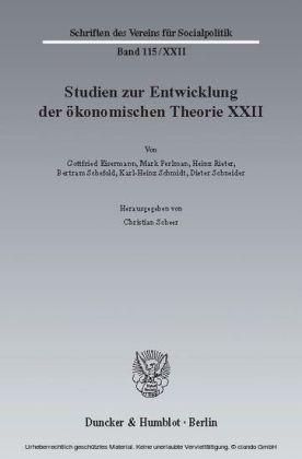 Ideen, Methoden und Entwicklungen der Geschichte des ökonomischen Denkens.