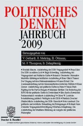 Politisches Denken. Jahrbuch 2009.