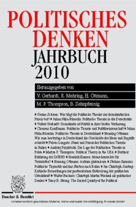 Politisches Denken. Jahrbuch 2010.