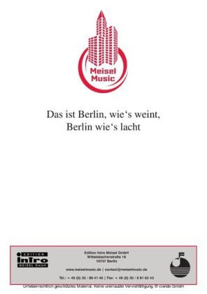Das ist Berlin wie's weint, Berlin wie's lacht