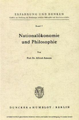 Nationalökonomie und Philosophie.