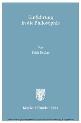 Einführung in die Philosophie.